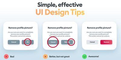 I share daily UI Design tips